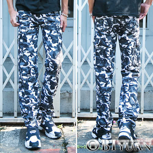 迷彩工作褲【P3152】OBI YUAN 韓版專櫃軍風側邊口袋彈性休閒褲 共3色 現+預