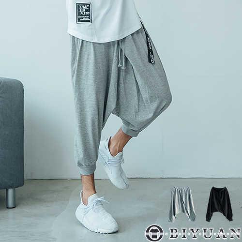 【OBIYUAN】韓風彈性彈力棉質休閒飛鼠褲/七分短褲 現+預【SP330】