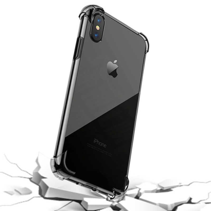 iPhoneX/Xs iPhoeXsMax iPhoneXR 手機殼 四角加厚 透明軟殼 空壓防摔殼