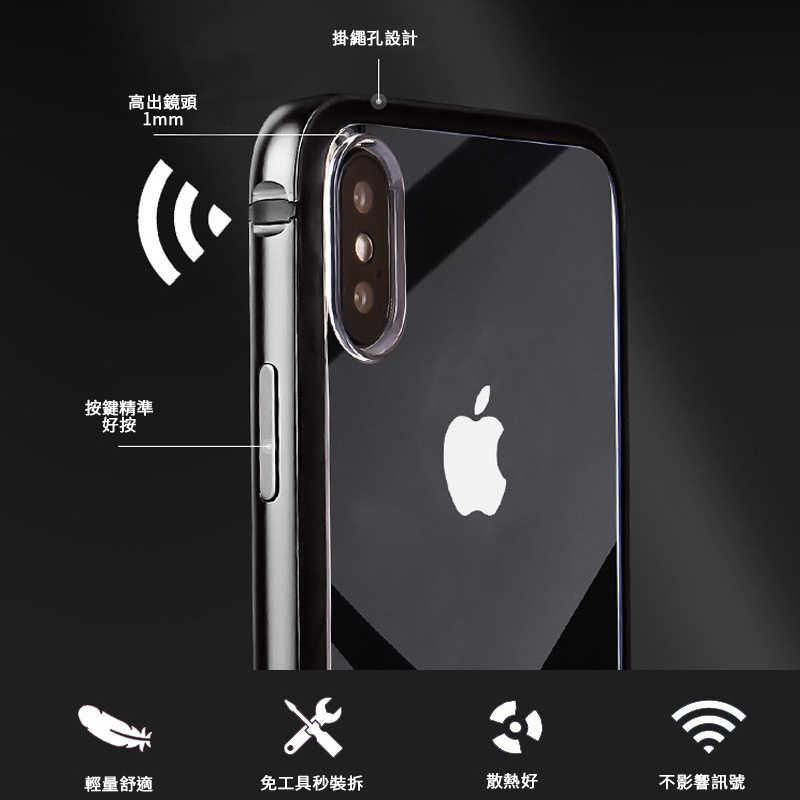 iPhoneXs/XsMax iPhoneXR 金屬框 金屬保護邊框+TPU膠條+背蓋 防摔邊框