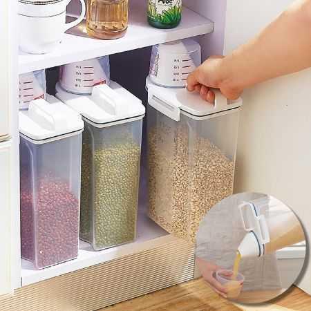 手提密封罐 附量杯 儲米桶 超大容量 保鮮盒 儲物盒 收納盒 米 麵條 五榖雜糧【RS756】
