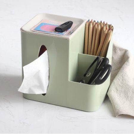 桌面收納面紙盒