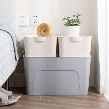 北歐風簡約收納箱 玩具整理箱 廚房浴室衣櫃收納 可堆疊收納 居家 團購 批發【RS701】中