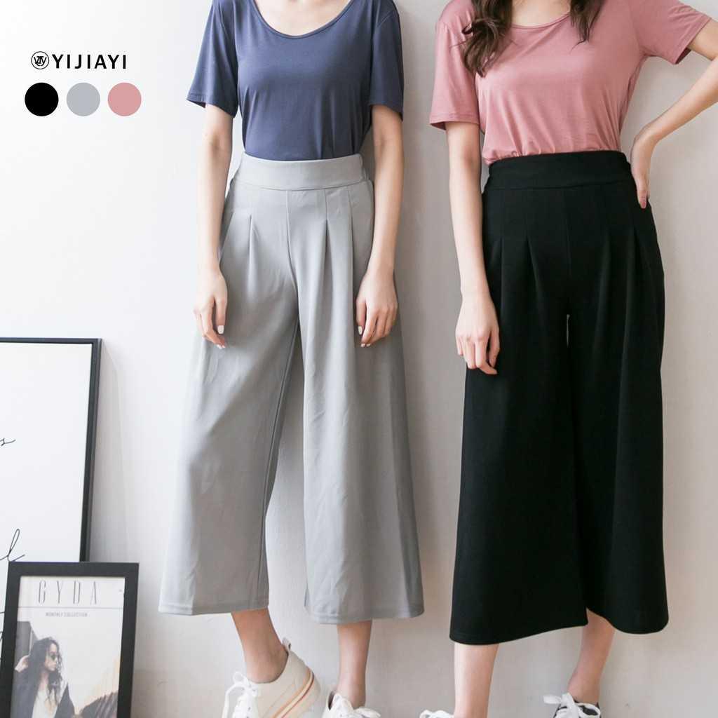 【YIJIAYI】【現貨】超顯瘦 熱銷款 九分 寬褲 【S廠】(S-6308)