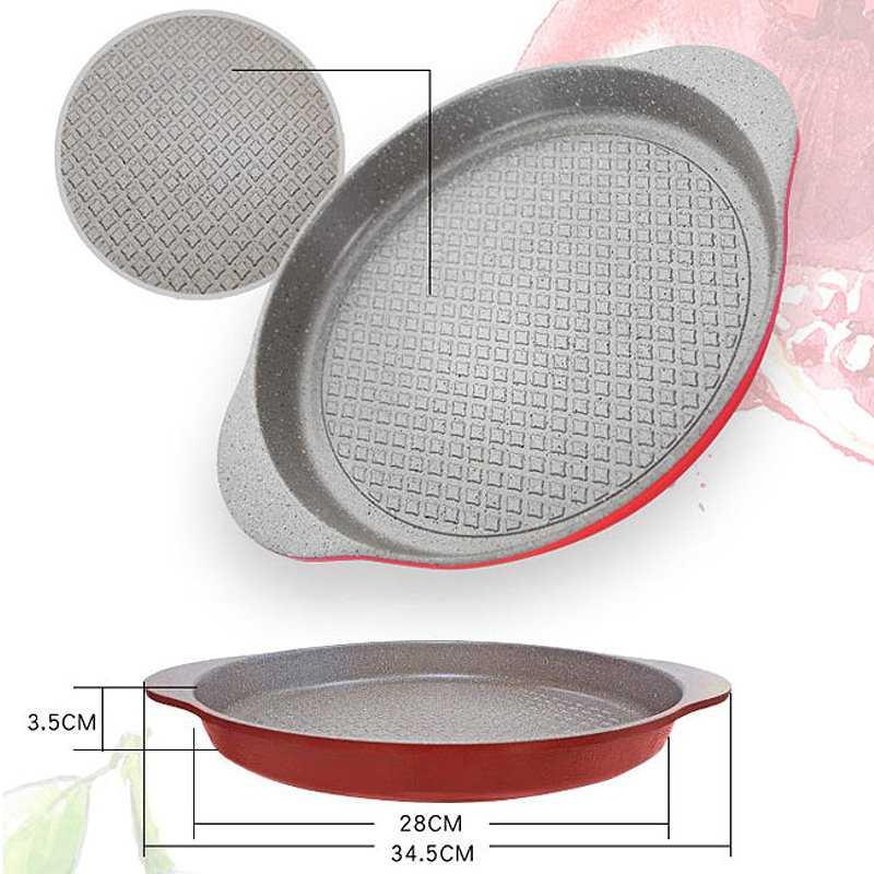 韓國Kitchen Art時尚清新經典紅鈦石烤盤28cm