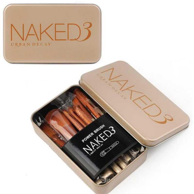 NAKED3化妝刷套裝 初學者全套化妝工具 12支 鐵盒便攜化妝刷套刷