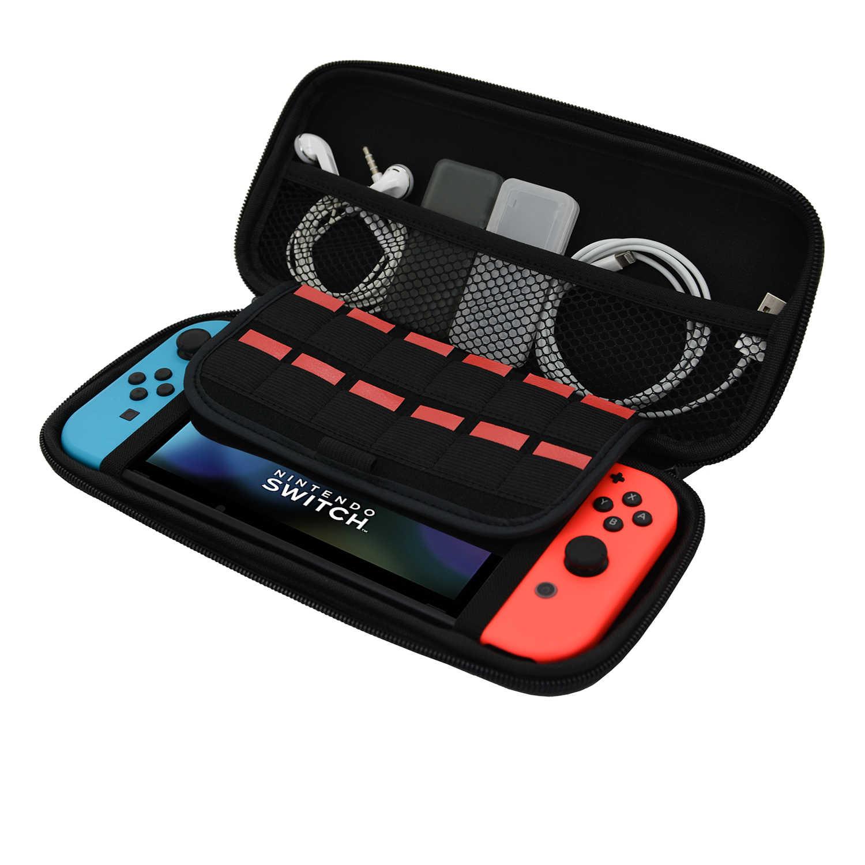 AHAStyle品牌店 任天堂 Switch 遊戲機 EVA 旅行 收納包 黑色