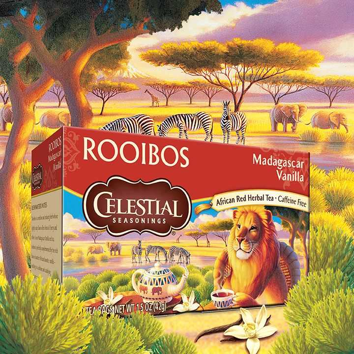 【Celestial Seasonings】美國原裝進口 香草南非國寶茶 (20入環保包)