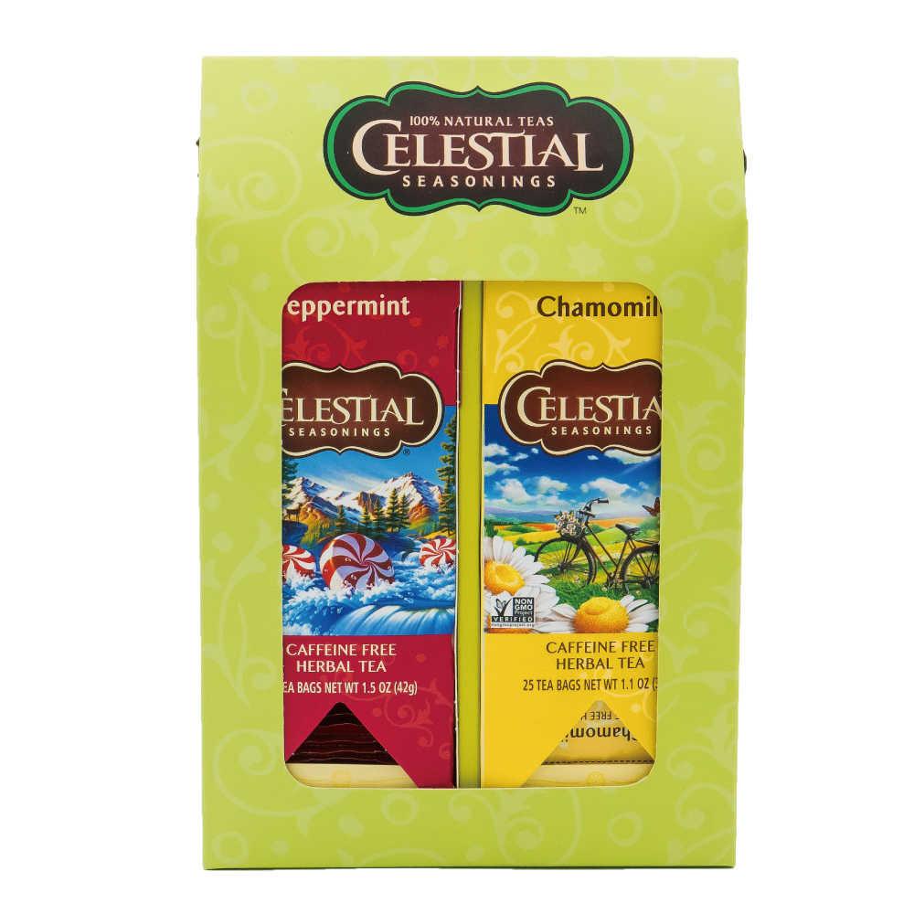 【Celestial Seasonings】美國原裝進口 雙喜禮盒 (25入獨立包 x 2)