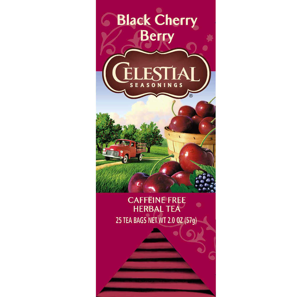 【Celestial Seasonings】美國原裝進口 黑櫻桃莓果茶 (25入獨立包)