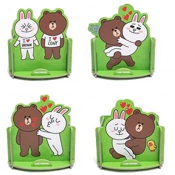 LINE 置物架 情人篇 熊大 兔兔 4款1組 現貨代理