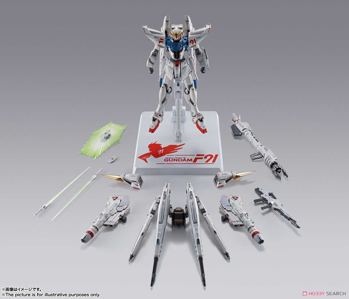 玩具研究中心 萬代 METAL BUILD  鋼彈F91 CHRONICLE WHITE 代理