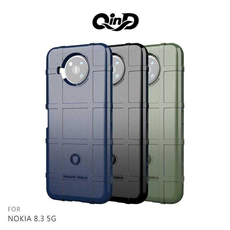 【愛瘋潮】QinD NOKIA 8.3 5G 戰術護盾保護套 鏡頭加高 保護套 手機殼 軟殼