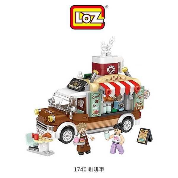 【愛瘋潮】LOZ mini 鑽石積木-1740 咖啡車 玩具