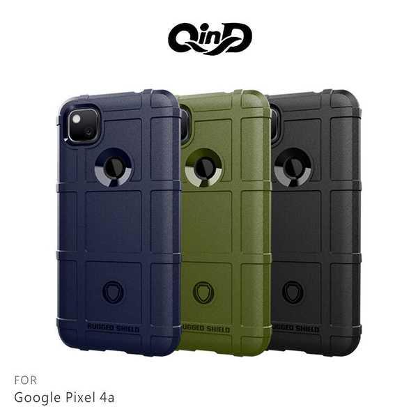 【愛瘋潮】 QinD Google Pixel 4a 戰術護盾保護套 背蓋式 手機殼 鏡頭加高 軟殼 保護殼 保護套