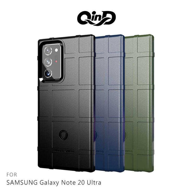 【愛瘋潮】QinD SAMSUNG Galaxy Note 20 Ultra 戰術護盾保護套 背蓋式 手機殼