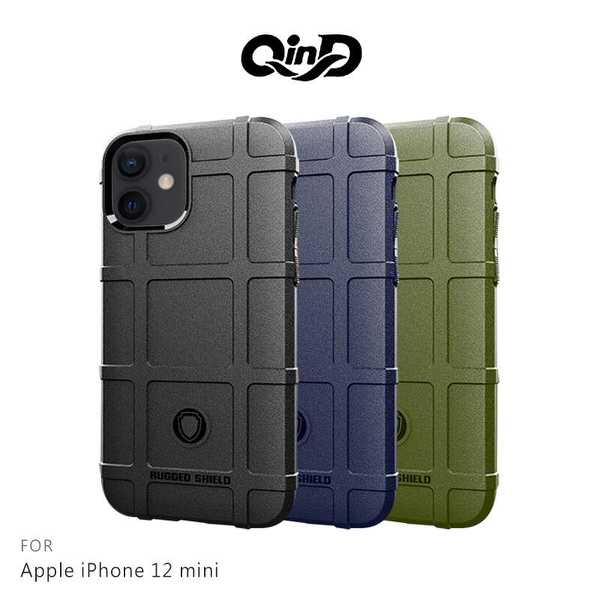【愛瘋潮】QinD Apple iPhone 12 mini (5.4吋) 5G 戰術護盾保護套 鏡頭加高 保護套 手機