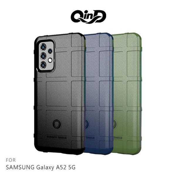 【愛瘋潮】 QinD SAMSUNG Galaxy A52 5G 戰術護盾保護套 背蓋式 手機殼 鏡頭加高 手機殼
