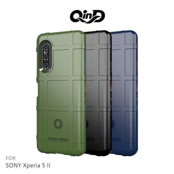 【愛瘋潮】 QinD SONY Xperia 5 II 戰術護盾保護套 鏡頭加高 保護套 手機殼 軟殼