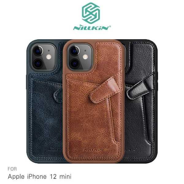 【愛瘋潮】NILLKIN Apple iPhone 12 mini(5.4吋) 奧格卡袋背套 手機殼 手機套 可插卡 保