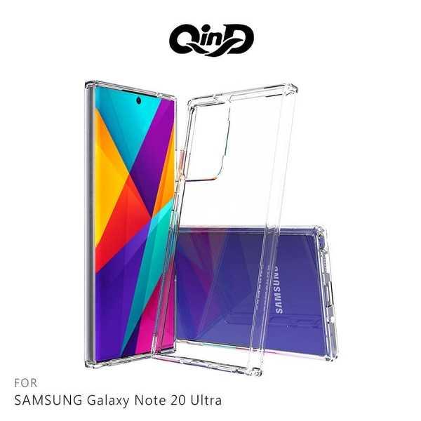 【愛瘋潮】QinD SAMSUNG Galaxy Note 20 Ultra 雙料保護套 高透光 PC硬背殼 手機殼