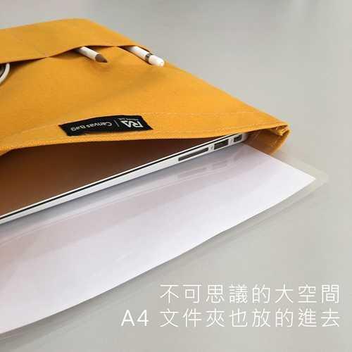 【Rolling-ave.】磁吸電腦平板帆布袋12.9吋+iPad Pro 12.9吋保護殼支撐架