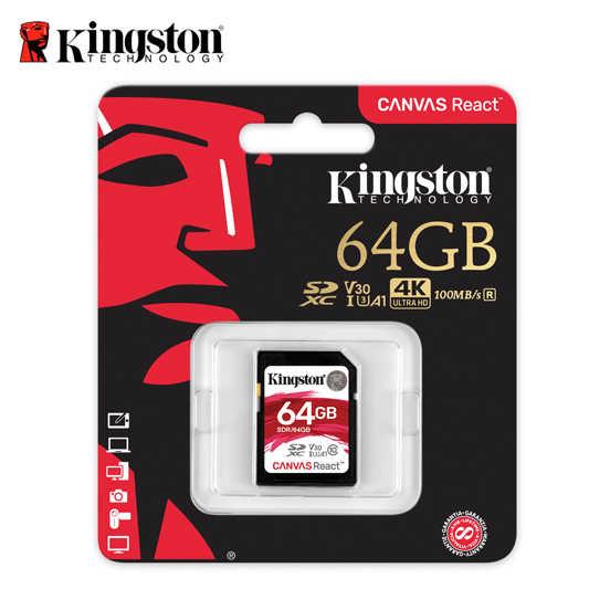 金士頓 64GB Kingston Canvas React 記憶卡 保固 SDXC UHS-I A1 U3