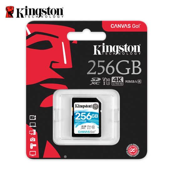 金士頓 256G Kingston Canvas GO! SDHC UHS-I U3 V30  記憶卡