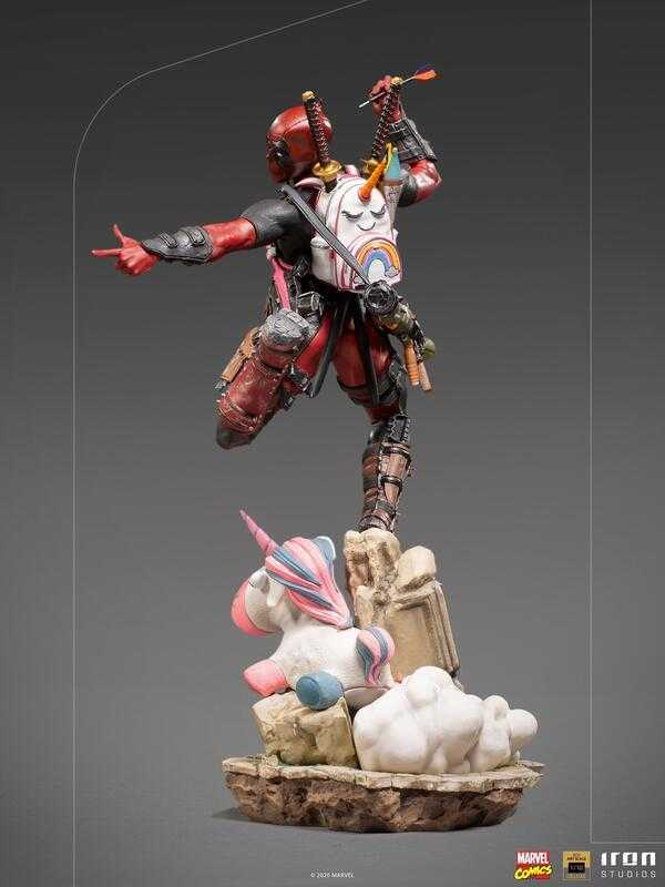【台中金曜】21年Q2 到付免運 Iron Studio 1/10 漫威 死侍 豪華版 雕像豪華版 雕像【代理】11/2