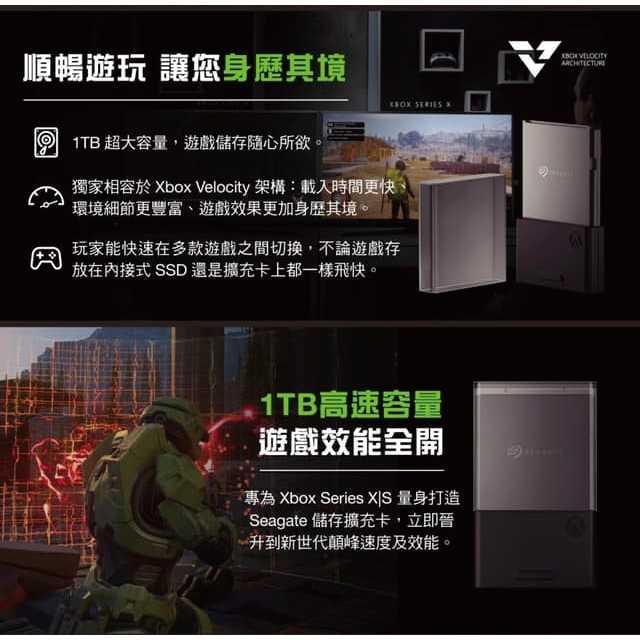 Seagate Xbox Series X|S 專用儲存裝置1TB擴充卡+禮物卡$500【現貨】【GAME休閒館】