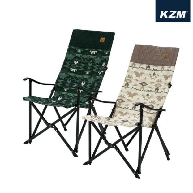 KZM 軍事風豪華休閒折疊椅-軍綠/沙漠【露戰隊】KAZMI