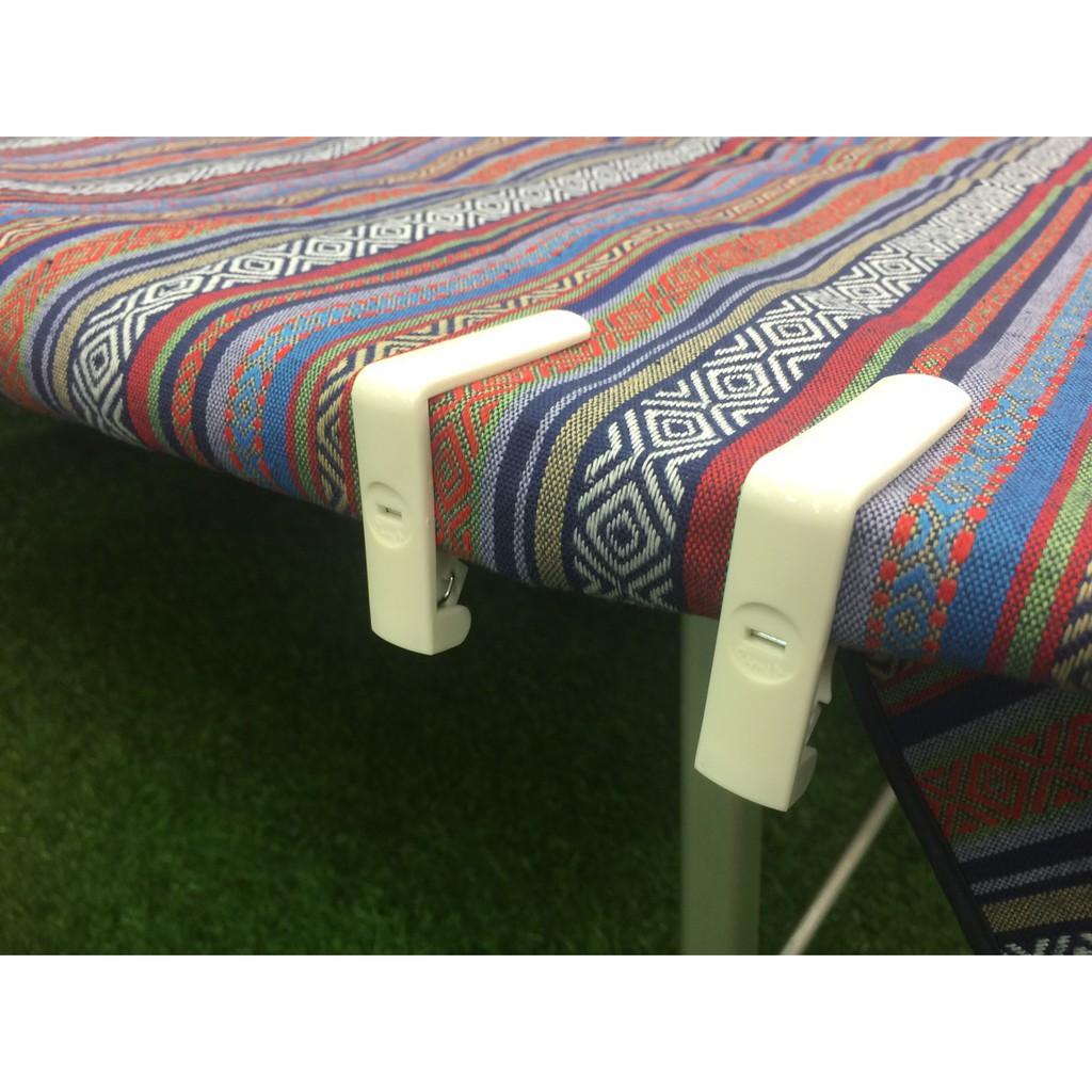 塑膠桌布夾/4pcs 固定夾 折疊桌 木桌 折板桌 蛋捲桌 適用 露營 野餐 GS55810【露戰隊】