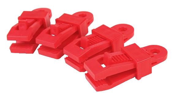 NOMADE 彩色帆布固定夾(一組4入) -紅色【露戰隊】