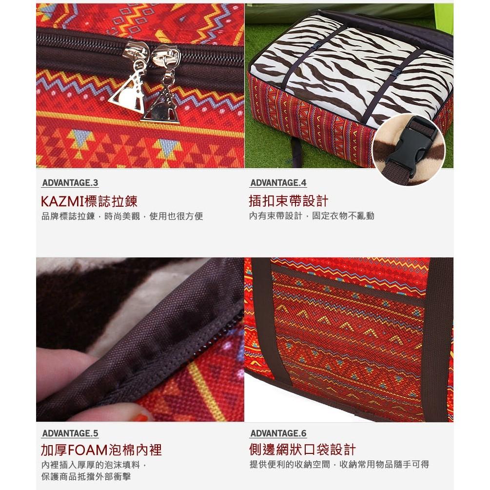 【露戰隊】KAZMI 經典民族風裝備收納袋70L(紅色)  K5T3B010 收納袋 裝備袋 70L K5T3B010