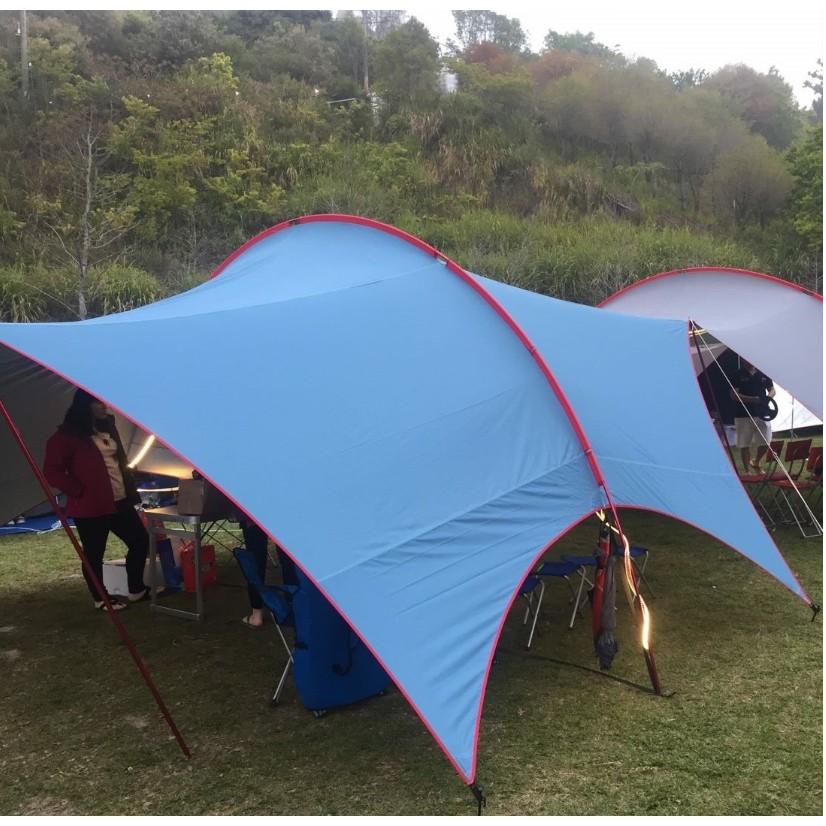 Soulwhat BigHabi 大哈比 拱形天幕  天幕 遮帳篷 露營 沙灘 海邊 戶外活動【露戰隊】 星空藍