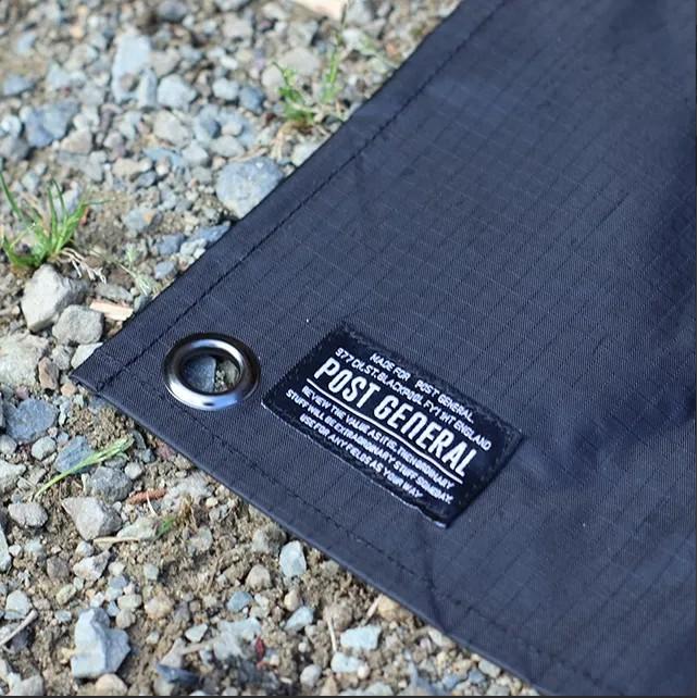 POST GENERAL 輕便型隨身地墊(附肩背收納包) 地墊 野營墊 野餐墊 【露戰隊】 棕x黑