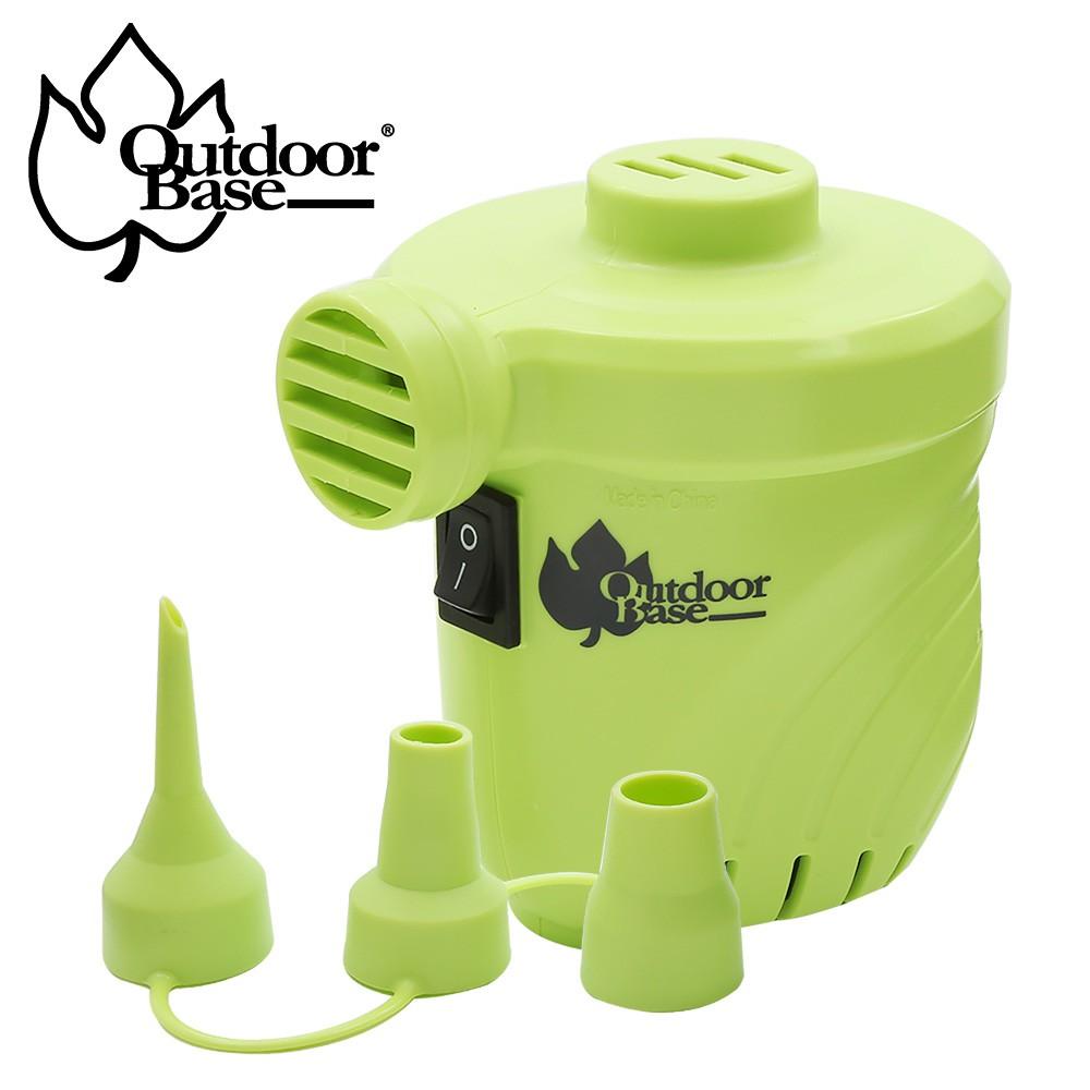 【露戰隊】Outdoorbase颶風充氣馬達_幫浦_超強充氣(打氣機,電動打氣,打氣,充氣床馬達,可充氣及洩氣) 草綠