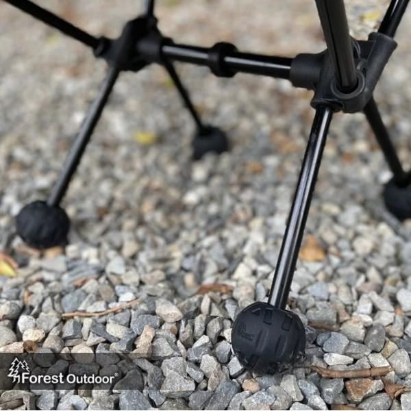 Forest Outdoor加大防滑腳球椅 椅腳套 一組四入 四色可選 月亮椅適用 椅套 椅腳 露營【露戰隊】 狼棕色