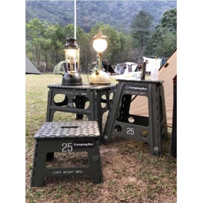 【買一送一】Camping Bar風格選物 工業風折凳 22cm高小椅【露戰隊】