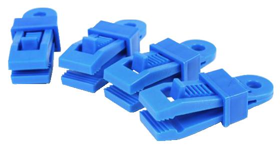 NOMADE 彩色帆布固定夾(一組4入) -藍色【露戰隊】