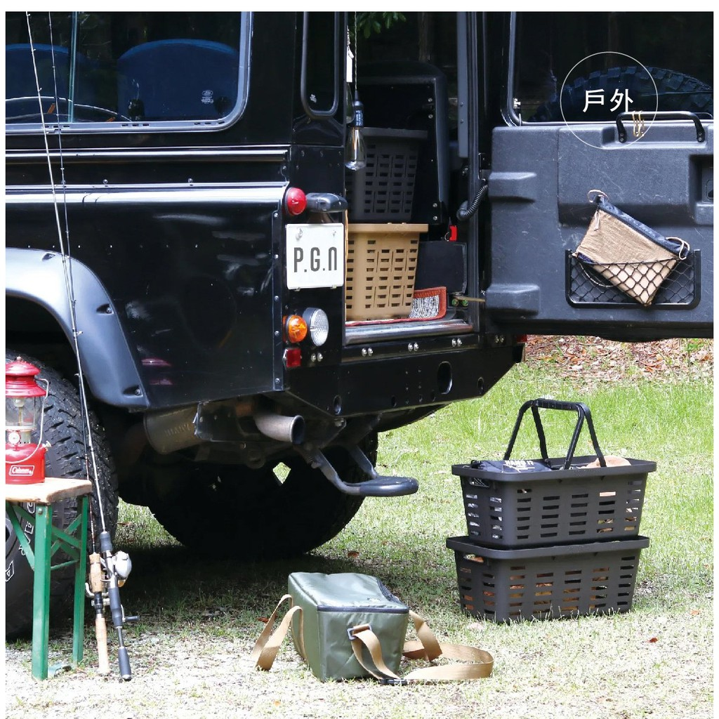 POST GENERAL–多功能露營手提長型收納籃 置物籃 【露戰隊】 砂棕色