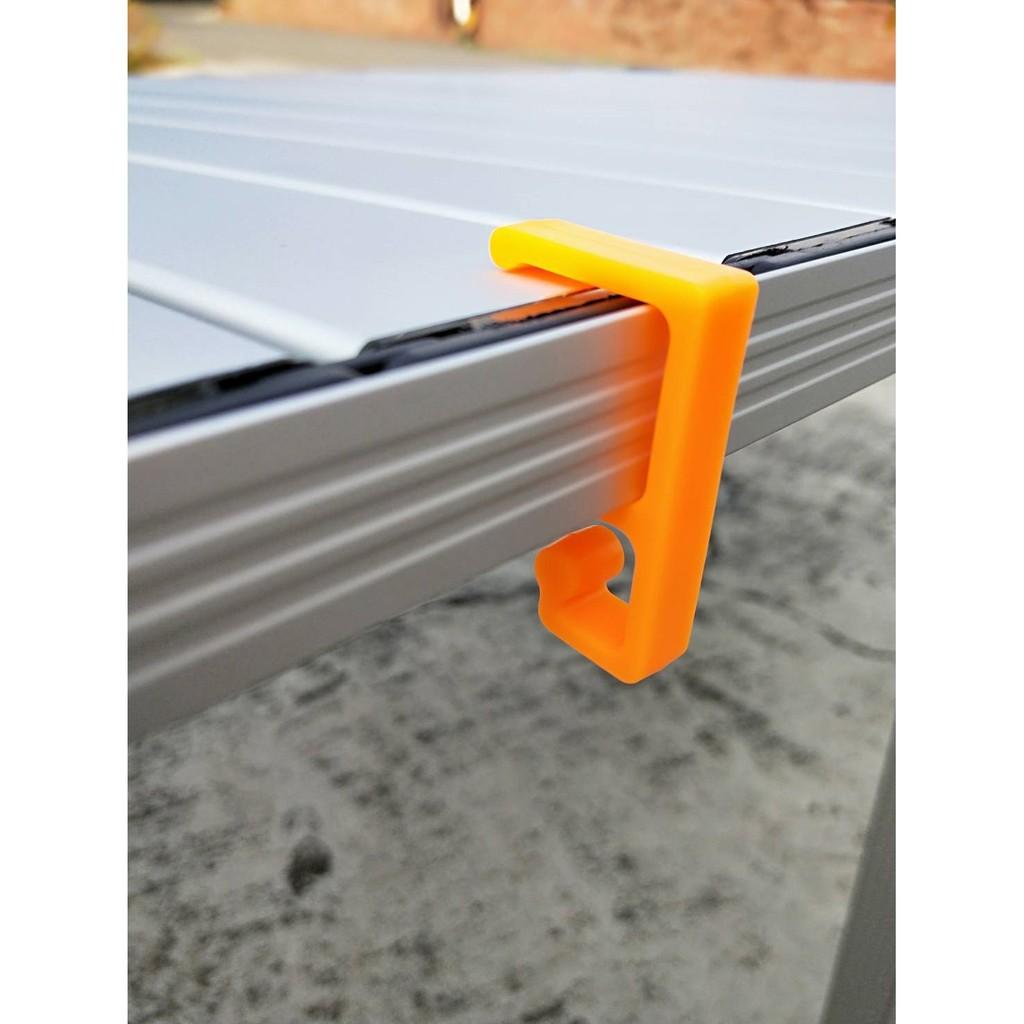 掛勾桌巾夾-黃色 一般鋁捲桌適用【露戰隊】