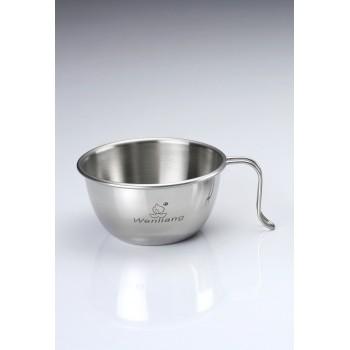【露戰隊】文樑 300CC小白金鋼碗 (ST-2023) 304 不銹鋼 露營 登山 野炊 鍋具 碗盤  WL02023