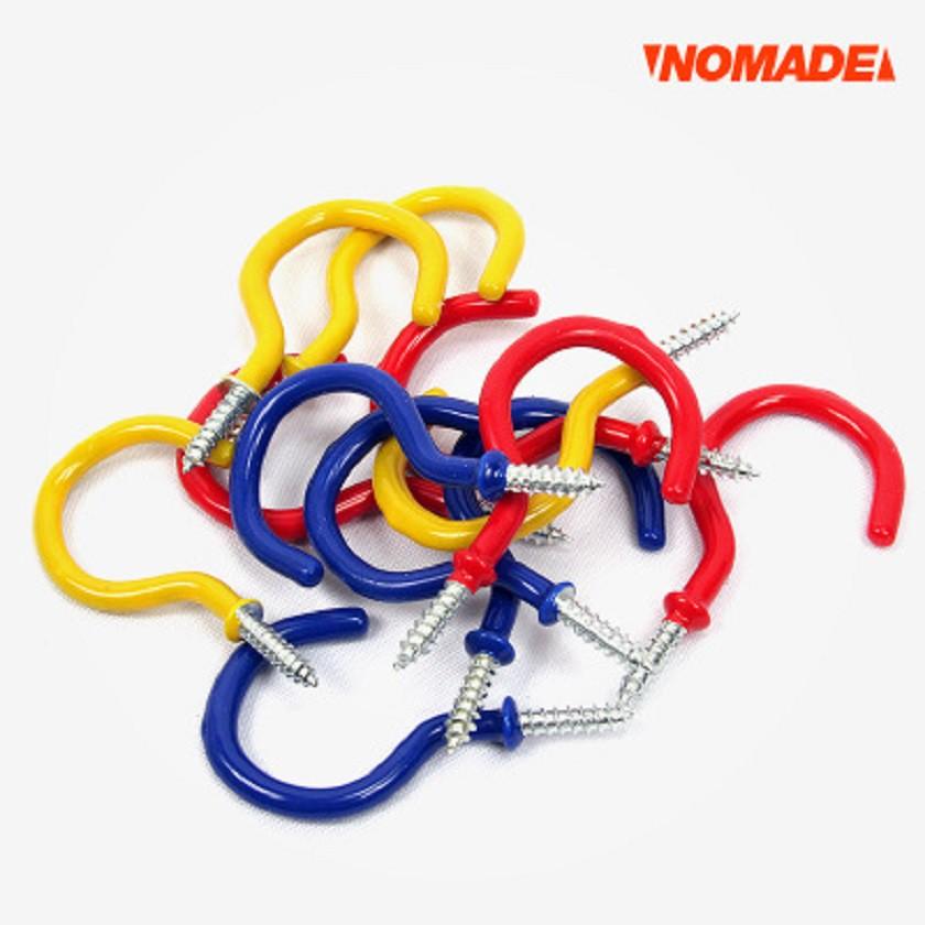 NOMADE 彩色問號螺旋鉤-20入 N5411 木棧板釘 營釘 鉤子 木板鉤 N5411【露戰隊】