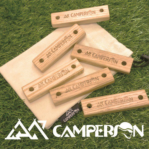 CAMPERSON 高品質實木調節片 調節片 營繩用調節片 營繩 風繩扣 三孔 鏢型 CS10080【露戰隊】