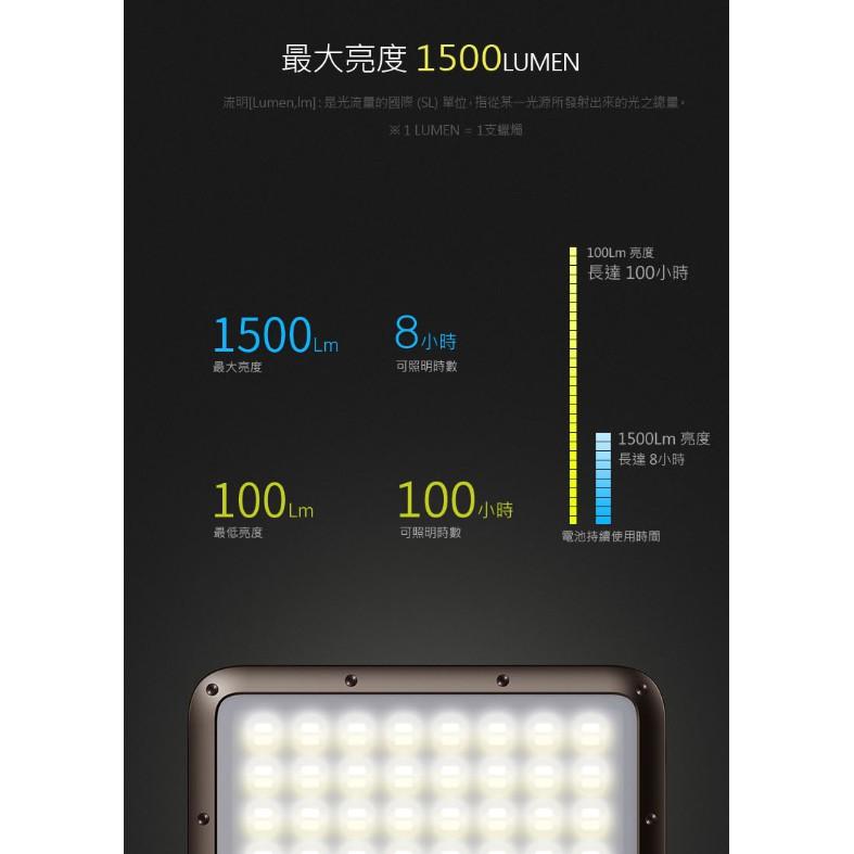 N9-LUMENA2 防水行動電源照明LED燈-摩卡棕【露戰隊】