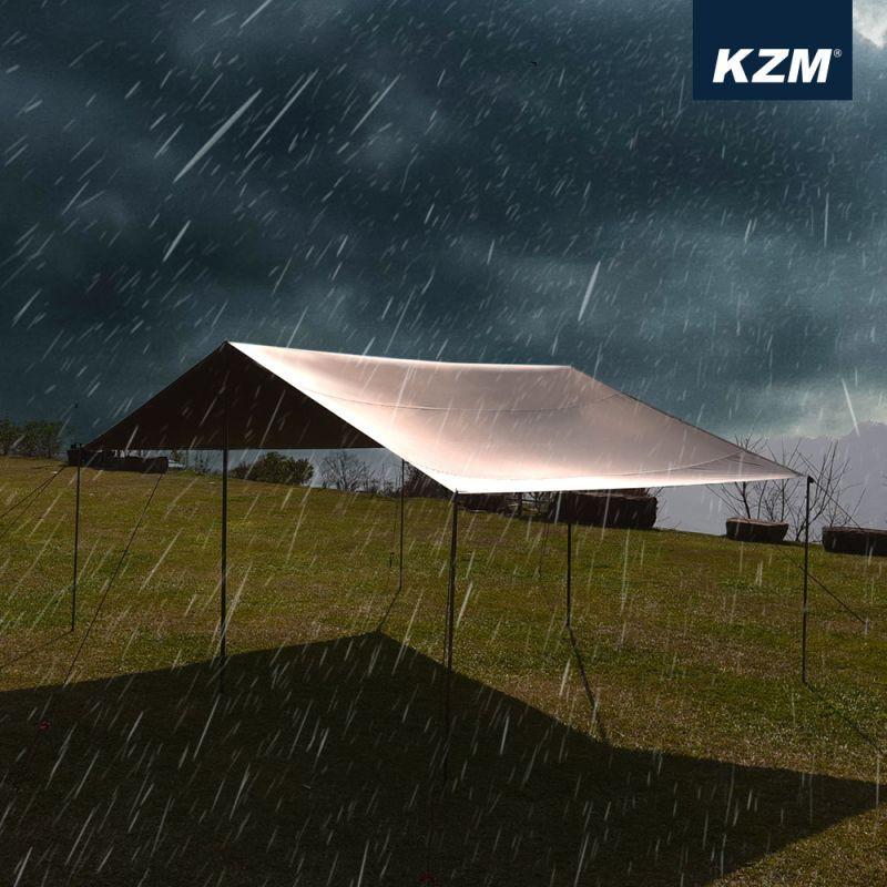 KAZMI KZM 不透光黑膠方型天幕L套組(含營柱.營繩.營釘)  [露戰隊]