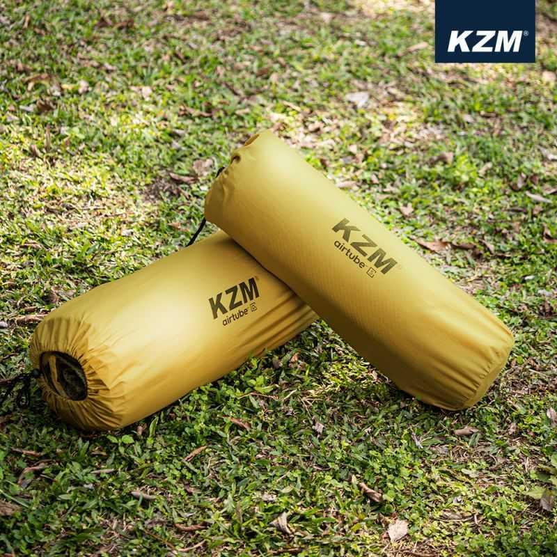 KAZMI自動充氣雙人床墊-卡其色【露戰隊】