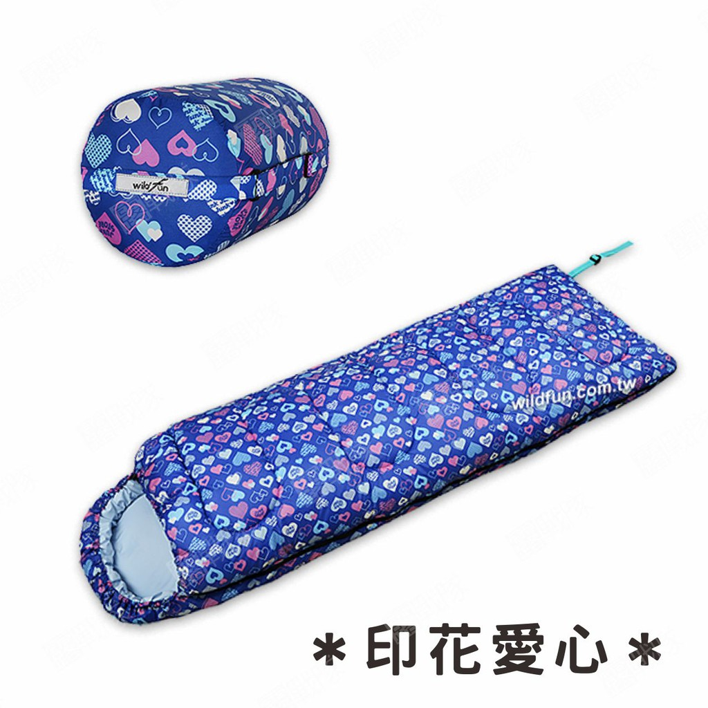 Wildfun野放 標準型睡袋 210*70cm 信封式睡袋 睡袋 露營 野餐 涼被 台灣製 MIT【露戰隊】 印花格子