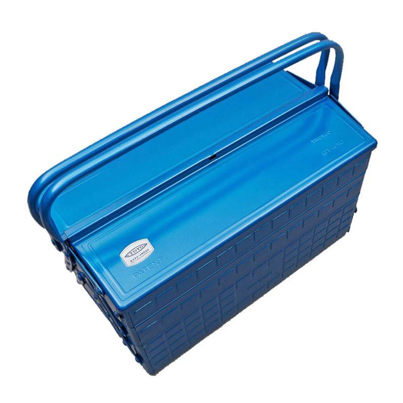 TOYO GT-470 三段式工具箱 藍  日本製 鐵箱  零件箱 【露戰隊】